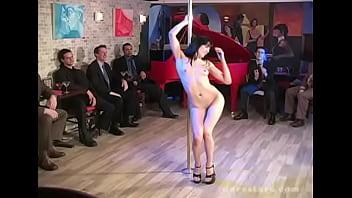 Totally naked Bar dance on guy'_s face