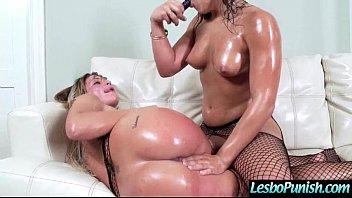 (abella&amp_kissa) Lesbo Girl Get Dildo Sex Toy Punish By Mean Lez video-03