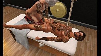 Lucas gets a Massage