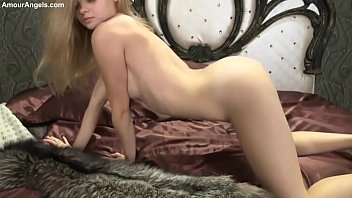Blond Angel Kisa Erotic Strip In Bed