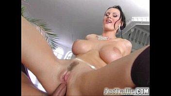 Ass Traffic Karma has big real boobs gets DP'd in sweet ass pornhub video