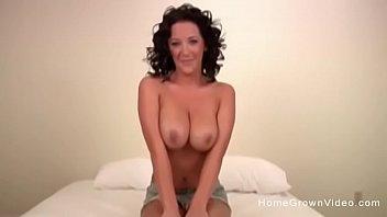 Big tit brunette stripper fucked in a homemade video