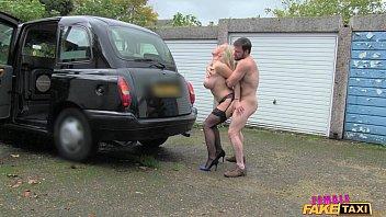 Female Fake Taxi Marine gives driver a good fuck