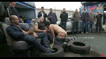 Gay slave gang bang