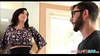 Sexy Big Tits MILF Stepmom Teaching Her Stepson