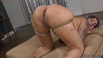 Hot big tits Latina tied and anal fucked