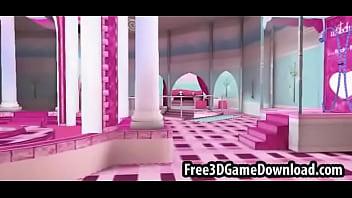 Beautiful 3d cartoon pink palace where you can fuck