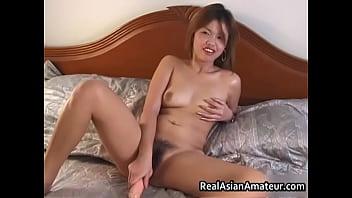 Peachy ass asian amateur forces huge