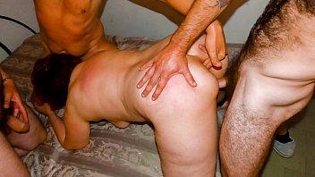 SCAMBISTI MATURI - Wild foursome sex with Italian BBW mature