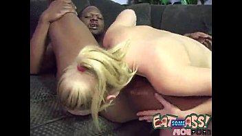 Annette Schwarz Licks Man Ass rimjob butt licking