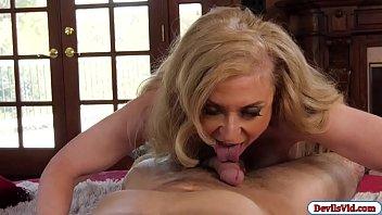 Nina shows Tee her amazing blowjob skill