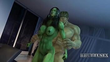 She hulk and Hulk Bhuttuwap.In