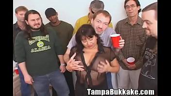 Susie'_s Gang Bang Bukkake Party