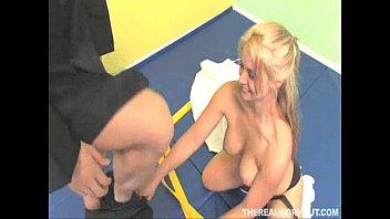 hot blonde karate chick sucks and tit-fucks her master