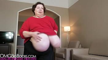 Granny giant boobs voyeur