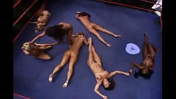 Wrestling nude KO girls