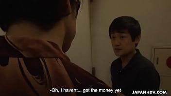 Japanese blonde, Yuri Kurosaki fucks to repay the debt, uncensored