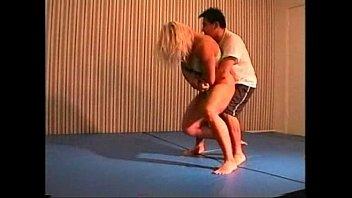 Flamingo Mixed Wrestling mw076-02 - Christine vs Stan Part 2