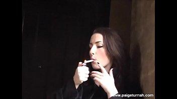 BBW Paige Turnah Outdoor Flashing and smoking fetish video