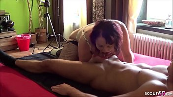 GERMAN BBW AMATEUR PORN WITH ANAL LICK HIS ASS AND FACIAL CUM