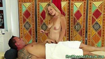 Pretty masseuse cumshot