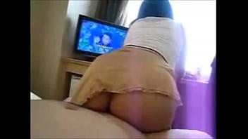 lives.pornlea.com Asian round ass wife riding cock
