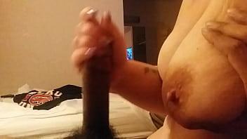 bbc handjob cumshot big tits