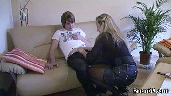 German Mom Teach Virgin Step-Son how to Fuck before Birthday