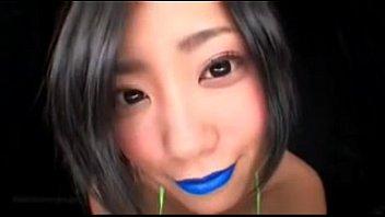 Japanese Blue Lipstick (Spitting-Fetish)
