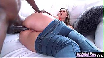 Deep Anal Hard Bang With Big Oiled Butt Horny Sluty Girl (Addison Lee) clip-03