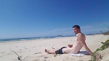 Beach Jerk Off 2