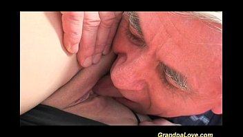 Nasty old man screws young blonde