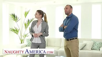 Naughty America -Bunny Colby knows how to sell a house by fucking the customer