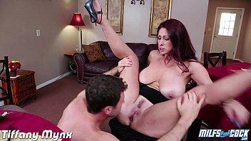 Busty milf Tiffany Mynx taking a big cock
