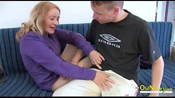 OldNannY Horny Grandma Sensual Stroking and Fuck