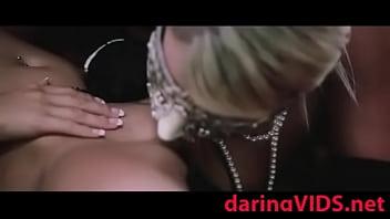 Pleasure with big black dildo