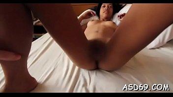 Moist thai slut enjoys a big knob