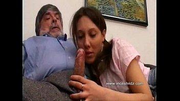 Cute grand daughter wants her grandpa