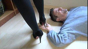 dominator lady in high heels