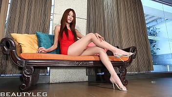 【】アジアの美脚娘のイメージビデオタイトワンピースのキレイな足こんな彼女がいたら自慢し放題な件w