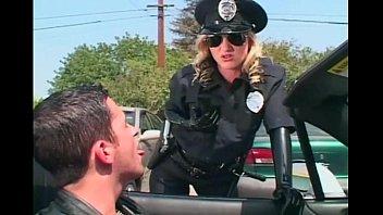 Kinky female cop molesting