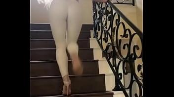 Tess Kielhamer walking on the stairs