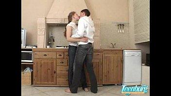 Hot kitchen teen fuck -