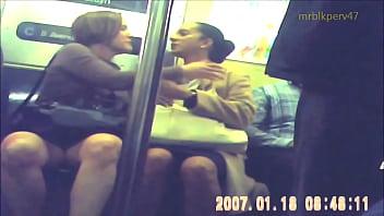 Candid White MILF UPSKIRT On The C Train