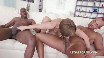 Big Butt slut Sasha Zima gets her tight holes DP'ed & DAP'ed to the extreme