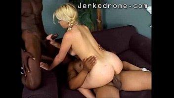 Ebony threesome fire