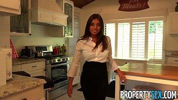 PropertySex - Her big natural tits impress potential client