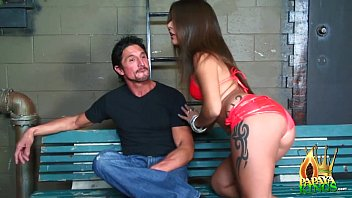 She gave him a blowjob, liking its huge size to choke to