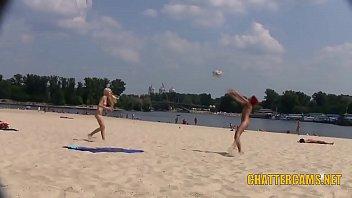 Sweet Teen Nudists Beach Playtime