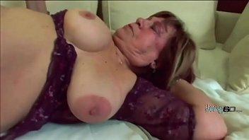 Fat GILF wants young semen all over her huge milk jugs